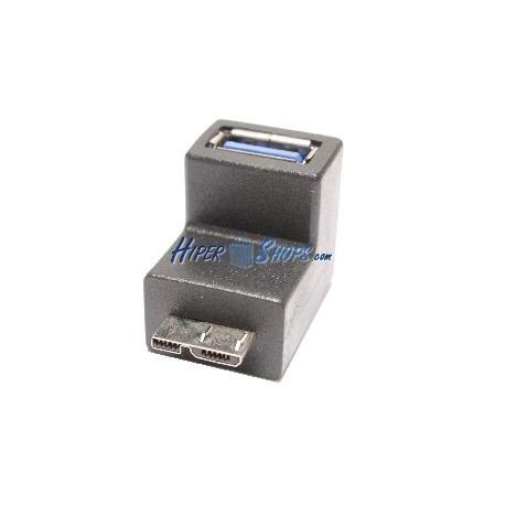Adaptador USB 3.0 microUSB AB macho a USB A hembra