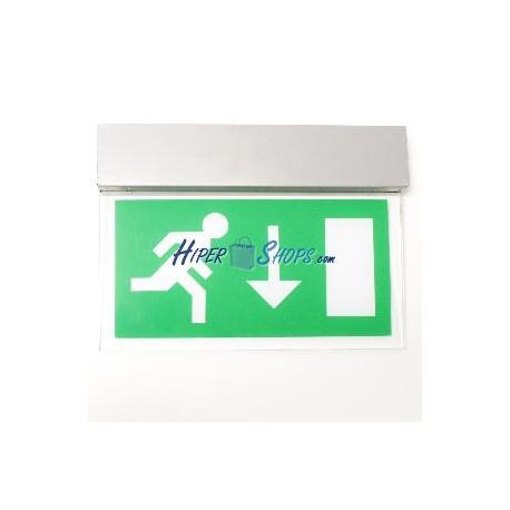 Cartel colgante de salida de evacuación LED 250VAC 50Hz de cristal