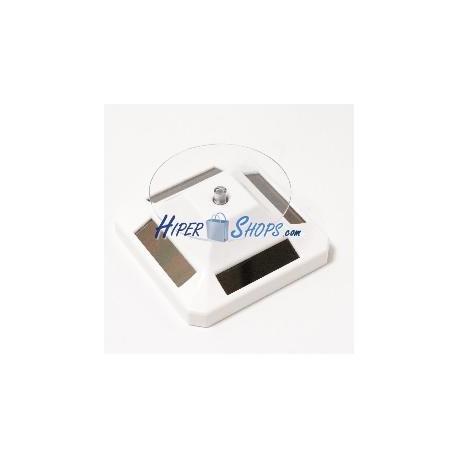 Plataforma giratoria solar d90mm h52mm base blanca