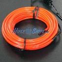 Cable electroluminiscente rojo de 2.3mm en bobina 5m con pilas