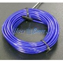 Cable electroluminiscente azul marino de 2.3mm en bobina 5m con pilas