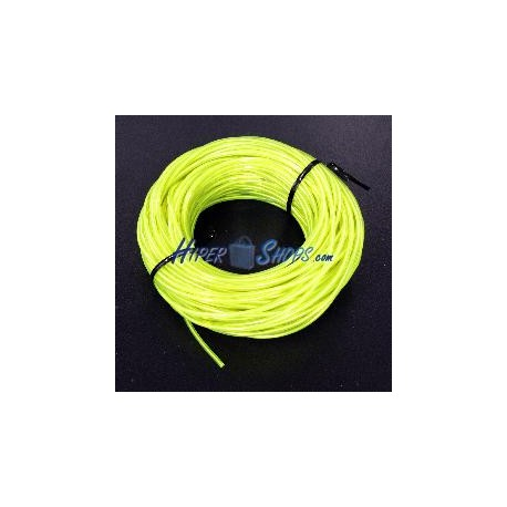 Cable electroluminiscente amarillo de 2.3mm en bobina 25m