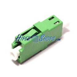 Acoplador de fibra óptica LC/APC a LC/APC monomodo simplex