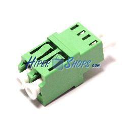 Acoplador de fibra óptica LC/APC a LC/APC monomodo duplex