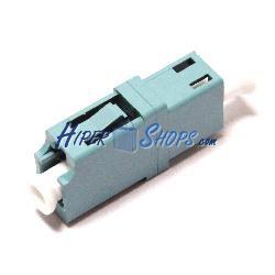 Acoplador de fibra óptica LC a LC multimodo simplex OM3