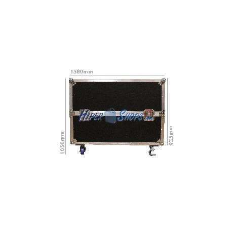 Flight case con ruedas para pantalla doble de 60&quot- tipo TV LCD LED plasmaTV de RackMatic
