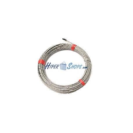 Cable de acero inoxidable de 6,0mm 25m