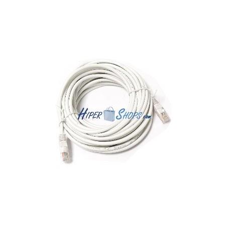 Cable de red UTP categoría 5e ethernet blanco 15m