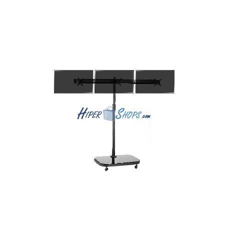Soporte de TV VESA 50 75 100 para 3 pantallas en horizontal