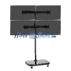 Soporte de TV VESA 50 75 100 para 4 pantallas en matríz 2x2