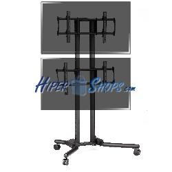 Soporte de TV para 2 pantallas en vertical de 32&quot--56&quot- VESA 600x400 mm