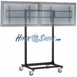 Soporte de TV para 2 pantallas en horizontal de 32&quot--56&quot- VESA 600x400 mm