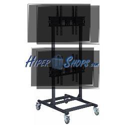 Soporte de TV para 2x2 pantallas en vertical de 32&quot--56&quot- VESA 600x400 mm dual