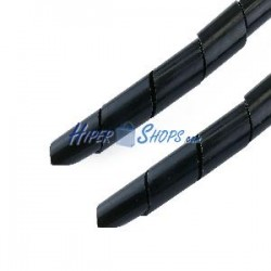 Organizador de cables espiral negro 8mm 2.5m