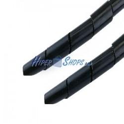 Organizador de cables espiral negro 10mm 2.5m