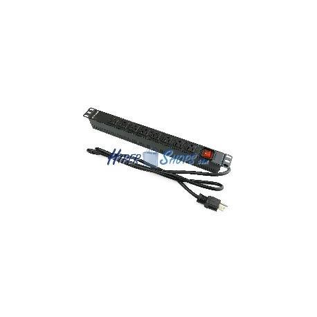 Regleta de enchufes rack 19'''' 8 NEMA 5-15R para US con interruptor de RackMatic