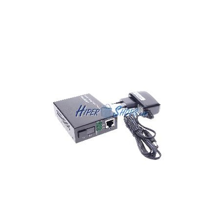 Conversor de fibra óptica 100 Mbps monomodo de SC a RJ45 a 60Km simplex 1550nm