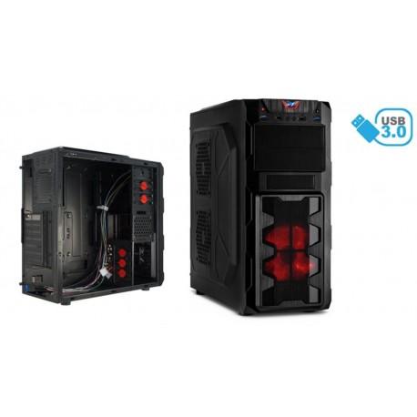 Caja ATX Gaming 2xUSB 3.0 2xUSB 2.0 negra