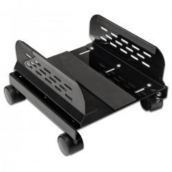 Soporte para ordenador PC metálico con ruedas de color negro de 13 a 25 cm
