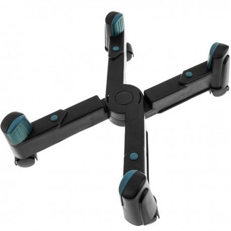 Soporte para ordenador PC con ruedas de color negro ajustable 8-25 cm