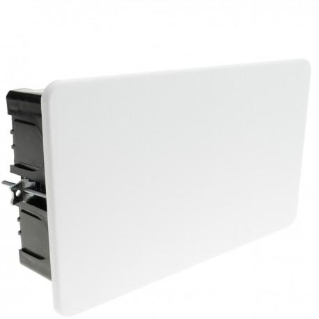 Caja empotrada de registro rectangular 200x125x63mm para paredes huecas