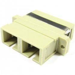 Acoplador de fibra óptica SC a SC multimodo duplex