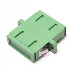 Acoplador de fibra óptica SC/APC a SC/APC monomodo duplex