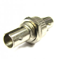 Acoplador de fibra óptica ST a ST multimodo simplex