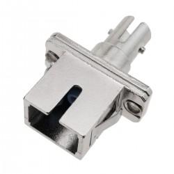 Acoplador de fibra óptica SC a ST multimodo simplex