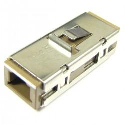Acoplador de fibra óptica MU a MU monomodo simplex