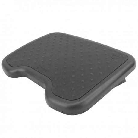 Reposapiés con plataforma ajustable de plástico negro 460 x 340 mm goma