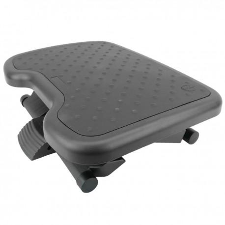 Reposapiés con plataforma ajustable de plástico negro 460 x 340 mm goma 3 niveles
