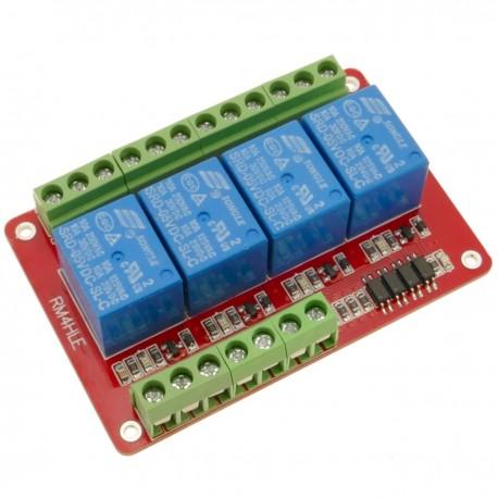 Circuito impreso con 4 relé de 5/12/24V para RM4HLE, bidireccional, optoacoplador, aislado