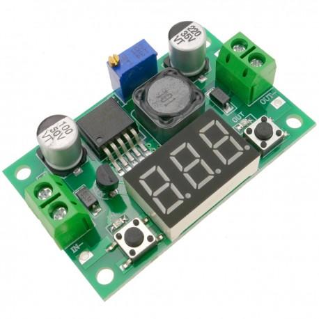 Fuente de alimentación DC-DC con regulador de voltaje y con visor LCD LM2596 DW-0428