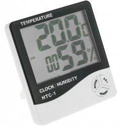 Termòmetre higròmetre i rellotge digital