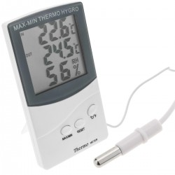 Termómetro e higrómetro con sensor doble interior exterior DW-0210
