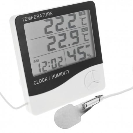 Termómetro higrómetro y reloj digital DW-0202