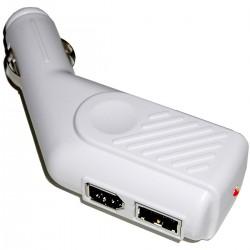 Fuente de alimentación para mechero de coche a USB y FireWire