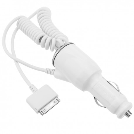 Fuente de alimentación para mechero de coche a Apple 30pin 5VDC 1A