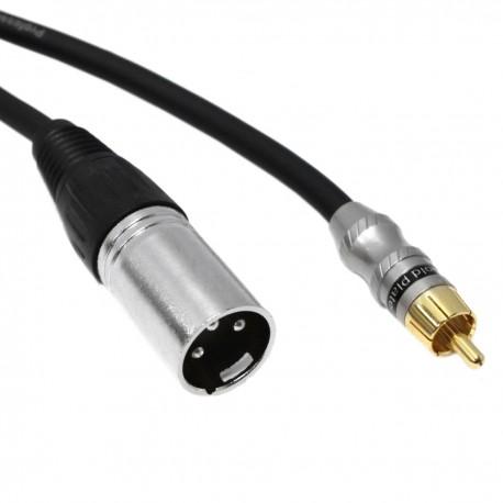 Cable de audio micrófono XLR 3pin macho a RCA macho de 1m