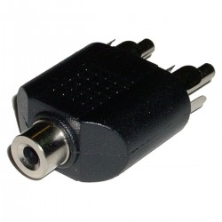 Adaptador Audio Estéreo (Jack-3.5mm-H / 2 x RCA-M)