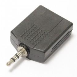 Adaptador de audio estéreo 1 x minijack-3.5-macho a 2 x jack-6.3mm-hembra