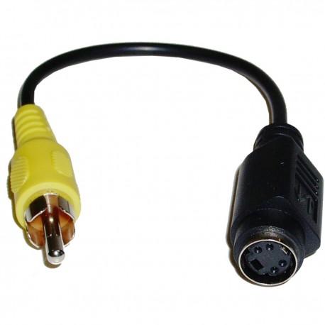 Adaptador Video Compuesto a S-VHS (RCA-M/MiniDIN4-H)