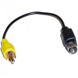 Adaptador Video Compuesto a SVHS-7 (RCA-M/MiniDIN7-M)