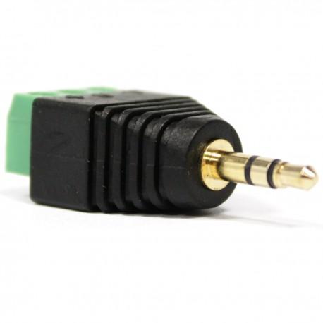 Conector jack 3.5mm estéreo a bloque de terminales de 3-pin