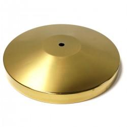 Base dorada de 350mm para poste de cinta retraible extensible