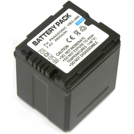 Batería compatible con Panasonic VW-VBG260T