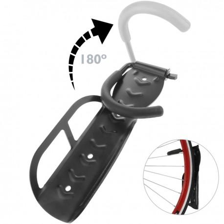 Gancho de pared para colgar bicicleta por la rueda ajustable