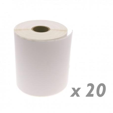 Rollo bobina de 380 etiquetas adhesivas para impresora térmica directa 101.6x152.4mm 20 unidades
