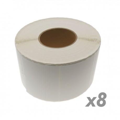 Rollo bobina 1800 etiquetas adhesivas para impresora transferencia térmica 101.6x76.2mm 8 unidades